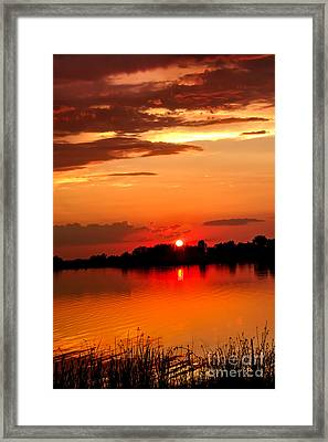 Red Sunset Beauty Framed Print by Robert Bales