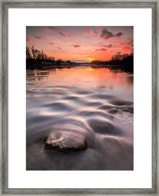 Red Sunset Framed Print by Davorin Mance
