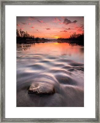 Red Sunset Framed Print by Davorin Mance