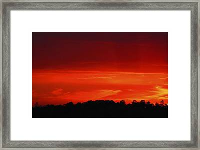 Framed Print featuring the photograph Red Sunset by Debra Crank