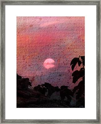 Red Sunset Framed Print by Dorothy Berry-Lound