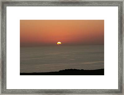 Red Sunset Over Sea Framed Print by Gordon Auld
