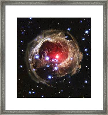 Red Supergiant Star V838 Monocerotis Framed Print by Astronomy and Nature Gifts