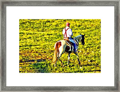 Red Suspenders Framed Print by Alice Gipson