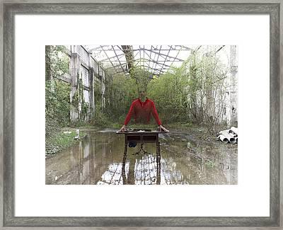 Red Jersey Framed Print by Fernando Alvarez