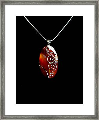 Red Swirl Agate Framed Print