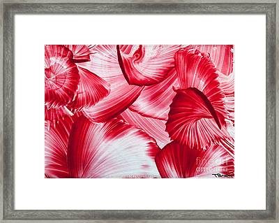 Red Swirls Background Framed Print by Simon Bratt Photography LRPS