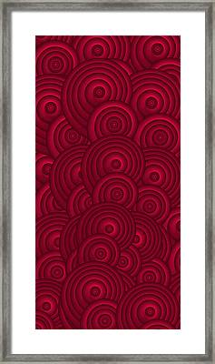 Red Swirls Framed Print