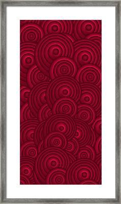Red Swirls Framed Print by Frank Tschakert