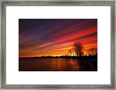 Red Swoosh Framed Print