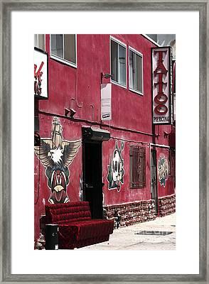 Red Tattoo Framed Print by John Rizzuto