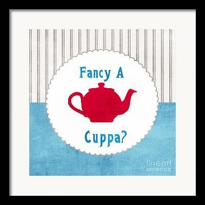 Teapot Mixed Media Framed Prints
