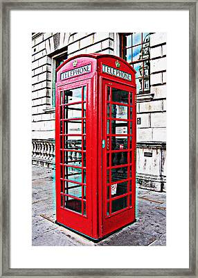 Red Telephone Box Call Box In London Framed Print