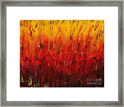 RED Framed Print by Teresa Wegrzyn