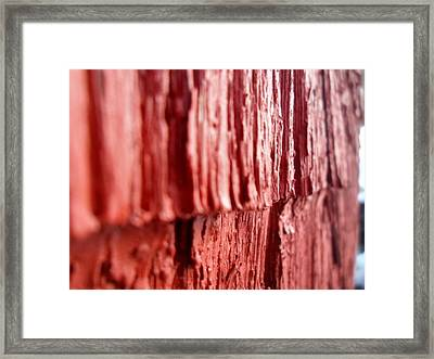 Red Texture Framed Print by Jenna Mengersen