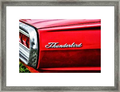 Red Thunderbird Framed Print by Bill Cannon