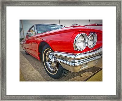 Red Thunderbird Framed Print by Linda Unger