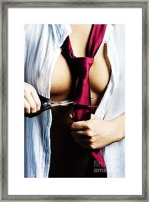 Red Tie Framed Print by Jelena Jovanovic