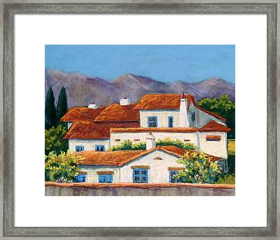 Red Tile Roofs Framed Print by Candy Mayer