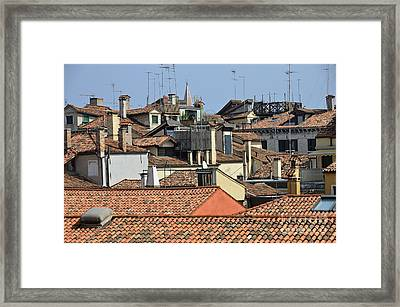 Red Tiled Roofs From Doges Palace Framed Print