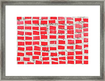 Red Tiles Framed Print by Tom Gowanlock