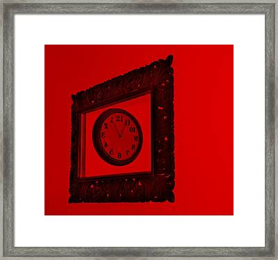 Red Time Frame Framed Print by Rob Hans