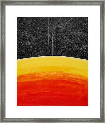 Red To Yellow Spacescape Framed Print
