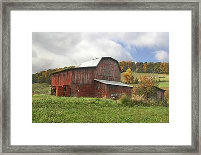 Framed Print featuring the photograph Red Tobacco Drying Barn by Robert Camp