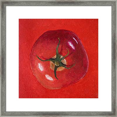 Red Tomato  Framed Print by Presilla Hadzhieva