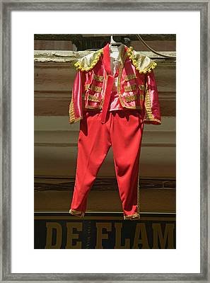 Red Toreador Bull Fighting Outfit Framed Print