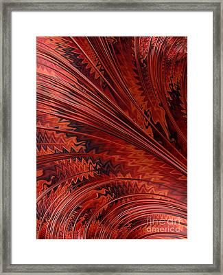 Red Tortoiseshell Abstract Framed Print by John Edwards