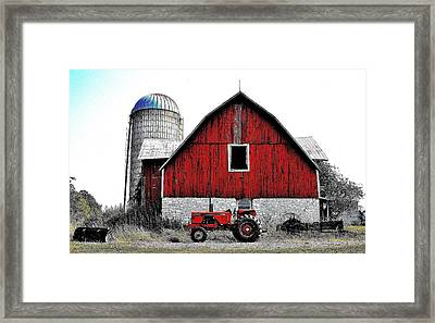 Red Tractor - Canada Framed Print