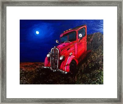 Red Truck Framed Print by Deb Wolf