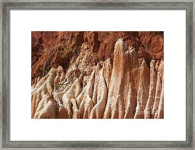 red Tsingy Madagascar Framed Print by Rudi Prott