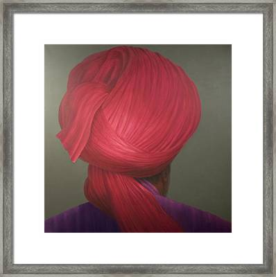 Red Turban, Purple Coat Framed Print