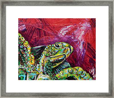 Red Turtle Framed Print by Lovejoy Creations