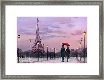 Red Umbrella Framed Print by Chris Consani