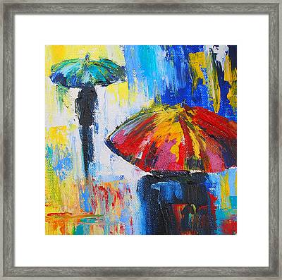 Red Umbrella Framed Print by Susi Franco