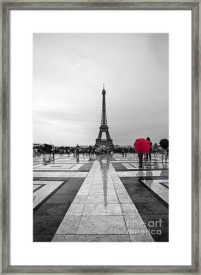Red Umbrella Framed Print by Timothy Johnson