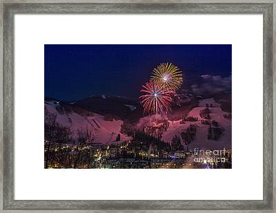 Red Vail Framed Print