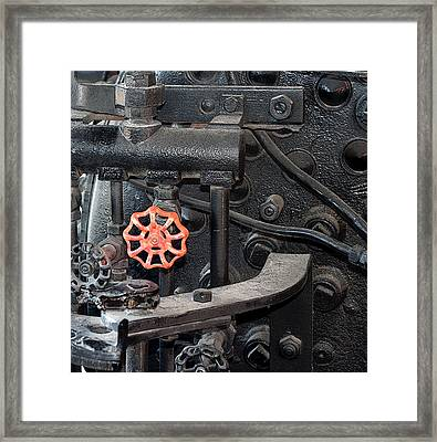 Red Valve S P R R 1673 Framed Print by Joe Kozlowski