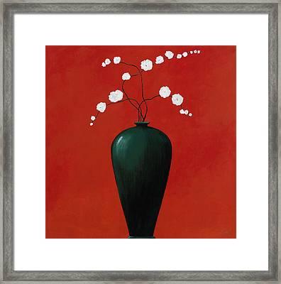 Red Vase 1 Framed Print by Pablo Esteban
