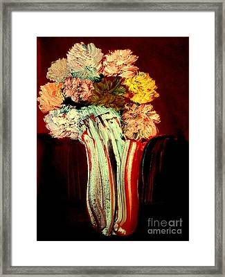 Framed Print featuring the painting Red Vase 7 by Bill OConnor