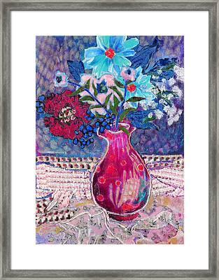 Red Vase IIi Framed Print by Diane Fine