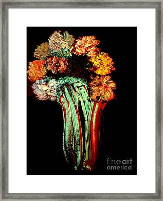 Red Vase Revisited Framed Print by Bill OConnor