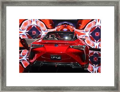 Red Velocity Framed Print