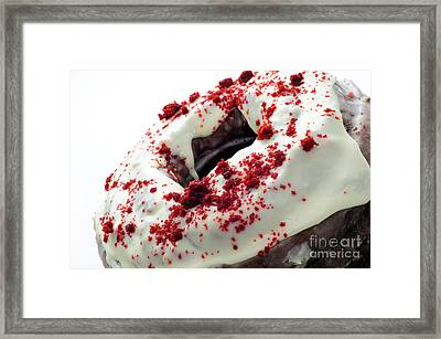 Red Velvet Bundt Cake Framed Print by Andee Design