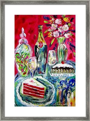 Red Velvet Cake Framed Print by Cynthia Hudson
