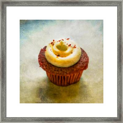 Red Velvet Cupcake Framed Print by YoPedro