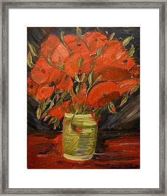 Red Velvet Framed Print by Louise Burkhardt